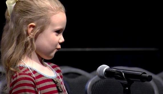5岁小女孩成史上最年轻背单词冠军诞生!