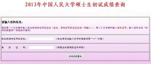 2013人大考研分数线_