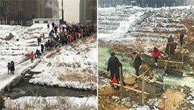 济南市区数百孩子每天走危桥上学