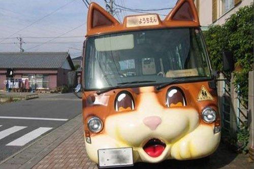 组图:日本幼稚园的卡哇伊校车