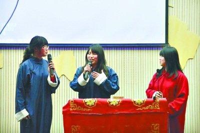 女生办女生图片庆相声节男生穿边框当配菜韩式可爱专场围裙图片