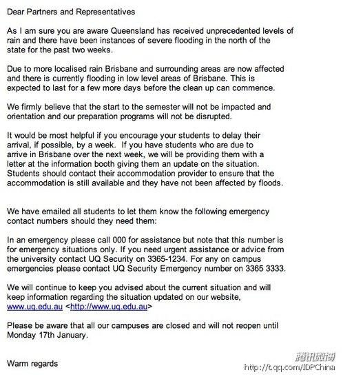 澳大利亚洪水持续泛滥 多所大学宣布校区关闭