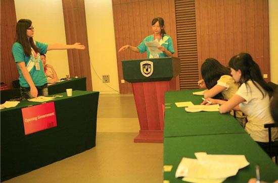 全国大学生英语辩论赛现场群生相
