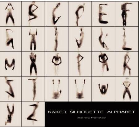 英语26个字母手抄报; 震撼艺术:大学女生裸体呈现英文字母剪影(组图)