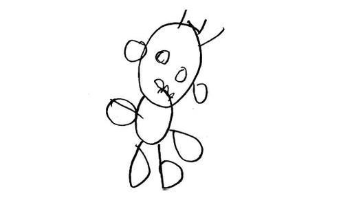 幼儿涂鸦 笔画间可预测10年后的智力