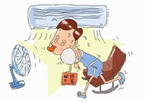 炎炎夏季里,不仅身体易中暑,连心理也会中暑.图片
