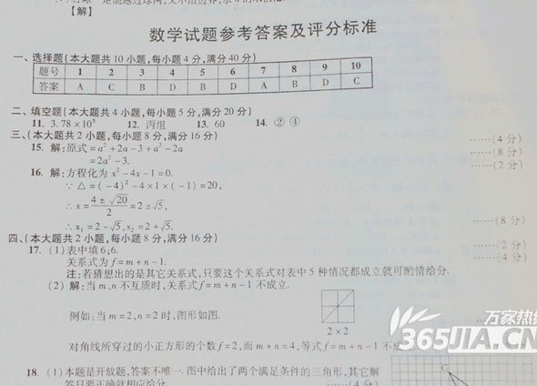 安徽中考数学试卷分析