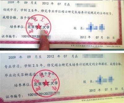 北京化工大模板毕业证印错硕士:v模板语句错经典鼓励的商用高中生校方图片