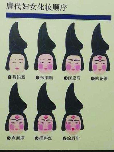 简单的画妆步骤图片