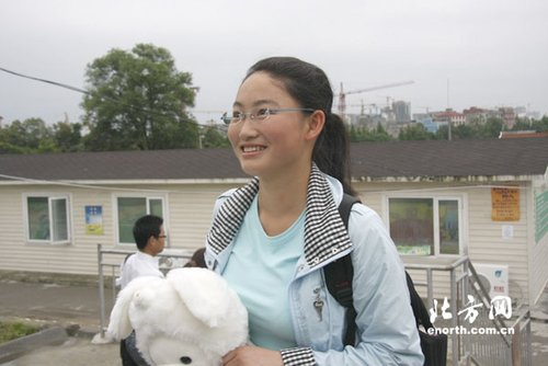 北川中学学生:用最坚强的笑容迎接每一天
