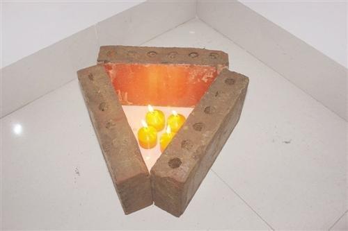 大学生用蜡烛花盆自制取暖神器 40分钟升温12.5℃