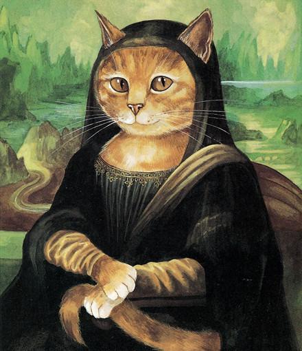 画家用猫再现经典名作 喵星人比原作更萌!