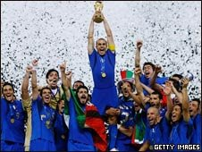 Italy with the cup in 2006