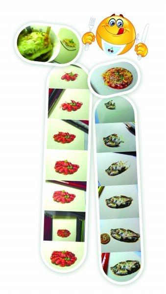 手绘插图食物小笼包