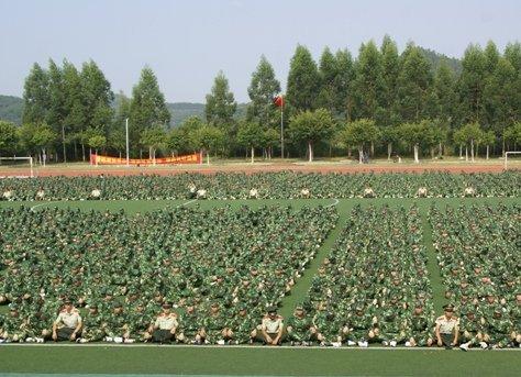 华南理工大学广州学院举行2011级学生军训