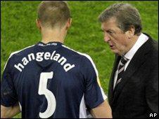 Brede Hangeland and Roy Hodgson