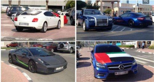 迪拜大学生驾顶级豪车上学 令人咋舌(图)