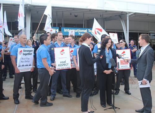 澳洲移民部举行第三次罢工 出入境签证受阻
