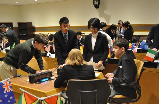第三届中美高中生模联大在联合国总部召开口诀高中生物常用图片