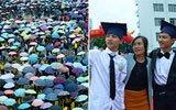 千名高三生雨中参加成人礼