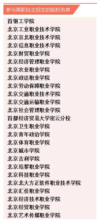 2016北京高职自主招生志愿咨询会3月12日开启