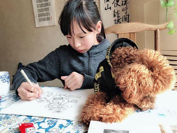 """小学生手绘72幅熊猫""""爆笑""""漫画 推广四川方言"""