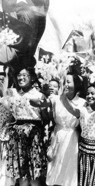 北京第四女子中学欢迎志愿军