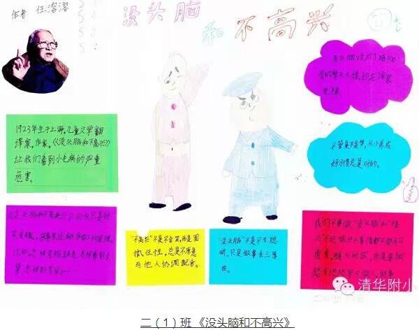 清华附小第40届读书节学生推荐海报:迎百年 读好书