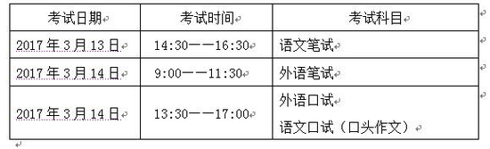 天津外国语大学2017年保送生招生简章