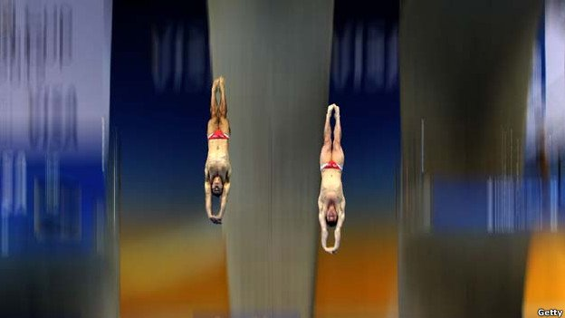 David boudia and nick mccrory in action during the diving world cup in