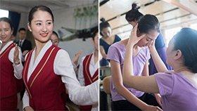 空乘专业女生的求职季:高强度训练下练到头晕