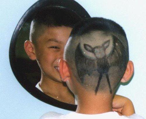 看那些小孩的搞怪发型图片