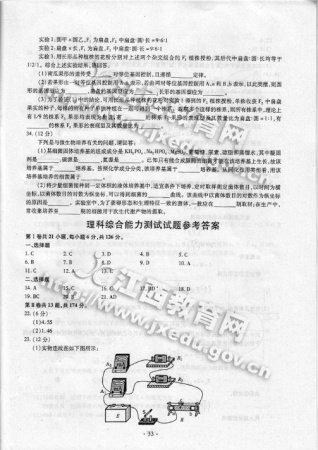2010年江西高考理综试题第21题答案有变