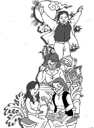 幼儿手绘职业海报