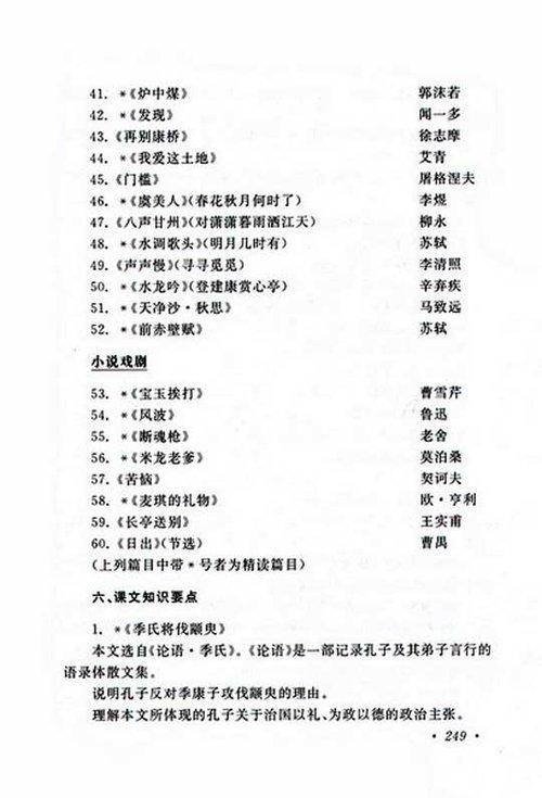 2010年成考专升本大学语文考试大纲