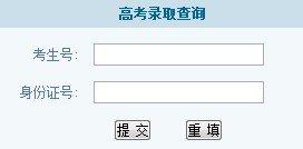 2013年中华女子学院高考录取查询系统