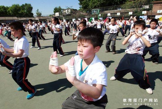 学生体育节展表演武术一作文风采运动校园操我佩服真的年级小学图片