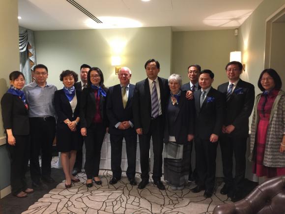 中国宋庆龄基金会领导一行访问BIEA伦敦总部,中国驻英大使馆教育