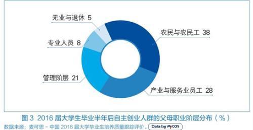 大学毕业生创业调查:近四成创业者为农村家庭背景