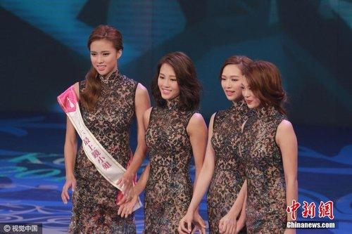 冯盈盈摘2016香港小姐桂冠 港男三甲同时出炉