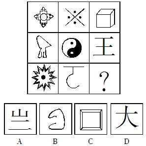 2011国家公务员考试行测冲刺备考:举一反三 灵活解答规律特征型图形推理题