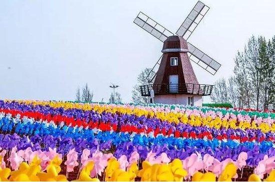 炒鸡好看的荷兰风车跟稻草人来恩施啦!而且门票还免费送!