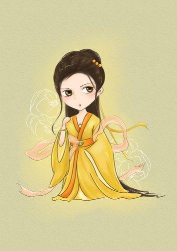 仙女2》人物手绘图