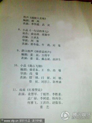 虎年春晚终审节目单曝光 姜昆冯巩作品突出重围