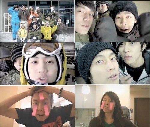 BEAST与4MINUTE同去滑雪场 视频公开引人注目