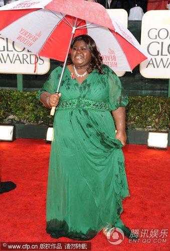 第67届金球奖红毯 《珍爱》女星斯迪贝亮相红毯