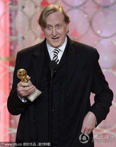 第67届金球奖现场 伯内特获得最佳原创歌曲奖