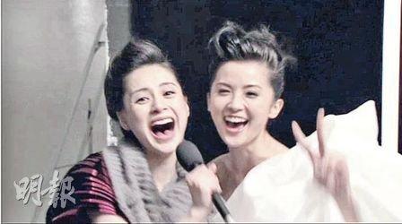 Twins艳照门后首次生猛合体 阿娇大嘴雷人(图)
