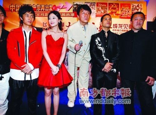 《大兵小将》广州首映 成龙澄清传闻出言豪迈