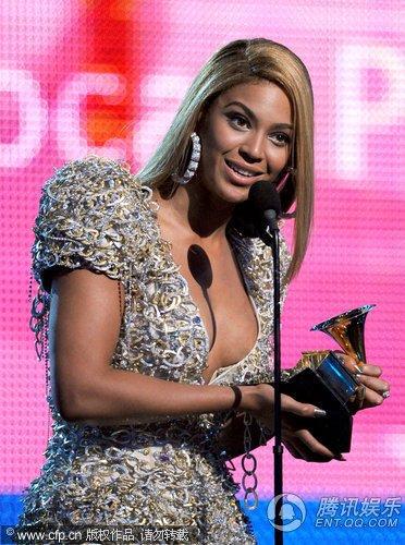 第52届格莱美现场:碧昂斯获得最佳流行女歌手